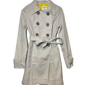 Old Navy Trench Coat Double Breasted Beige Taupe
